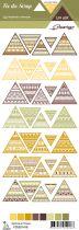 étiquette un air sauvage - automne triangles ethniques