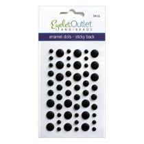 Eyelet Outlet Adhesive-Back Enamel Dots Matte black