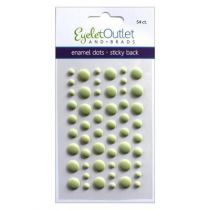 Eyelet Outlet Adhesive-Back Enamel Dots Matte green