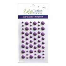 Eyelet Outlet Adhesive-Back Enamel Dots Matte purple