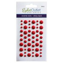 Eyelet Outlet Adhesive-Back Enamel Dots Matte Red