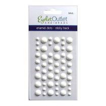 Eyelet Outlet Adhesive-Back Enamel Dots Matte white