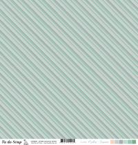 feuille combo menthe/saumon rayures diagonale
