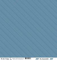 feuille les essentiels bleu foncé rayures