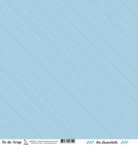 feuille les essentiels bleu moyen rayures
