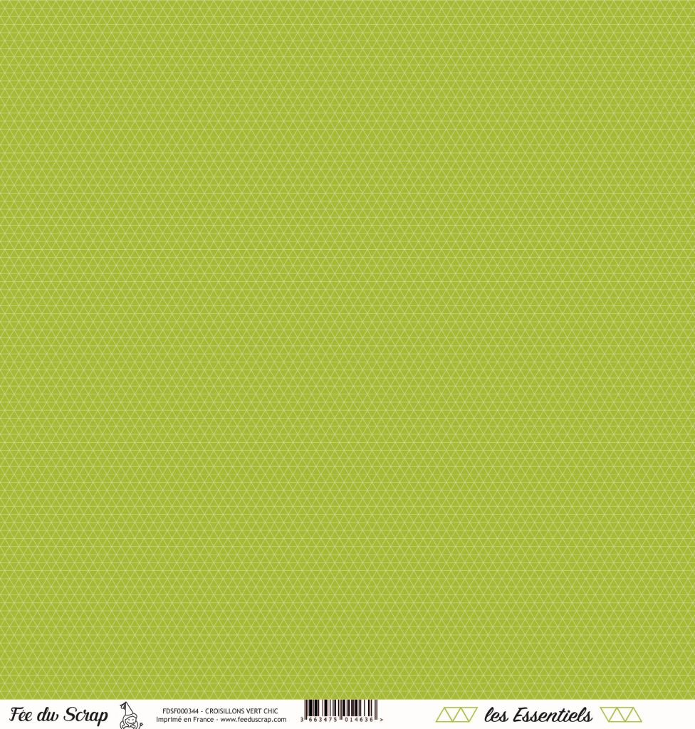 feuille les essentiels croisillons vert chic