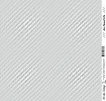 feuille les essentiels gris moyen rayures