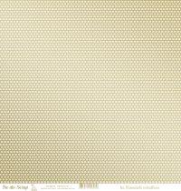 feuille les essentiels métallisés chevrons or