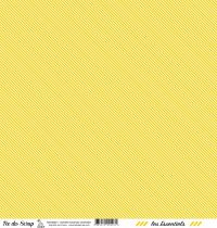 feuille les essentiels moutarde rayures