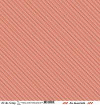 feuille les essentiels rouge orangé rayures