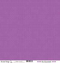 feuille les essentiels violet pois