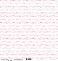 feuille Les mots bonheur rose/gris