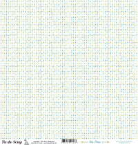 feuille Les pois vert/turquoise