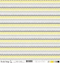 feuille Un air Chic jaune chevrons
