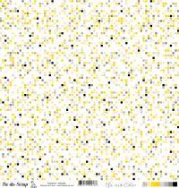 feuille Un air Chic jaune mosaique