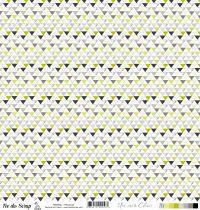 feuille Un air Chic vert triangles