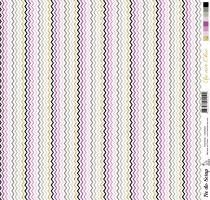 feuille Un air Chic violet chevrons