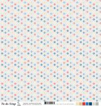 Feuille un air londonien - hexagones multicolores