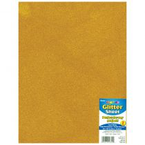 "Glitter Foam Sheet 9""X12\"" 2mm Gold"