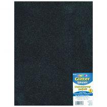 "Glitter Foam Sheet 9\""X12\"" 2mm noir"