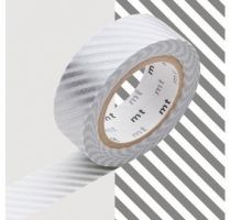 MASKING TAPE MOTIF RAYÉ ARGENT / STRIPE SILVER