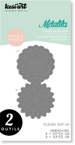 METALIKS FORME DE DECOUPE SET FLEURS POP UP
