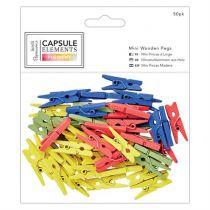 Mini Pince À Linge (50pcs) - Collection Capsule - Elements Pigment