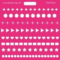 POCHOIR BANDES DIVERSES - 002