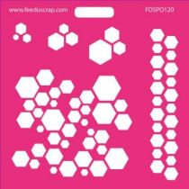 POCHOIR HEXAGONES 1