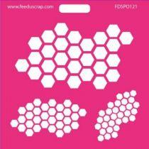 POCHOIR HEXAGONES 2