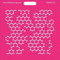 POCHOIR HEXAGONES 3