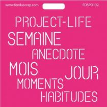 POCHOIR MOTS PROJECT LIFE