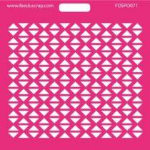 POCHOIR TRIANGLES ALIGNES -023