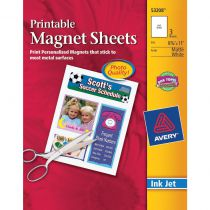 "Printable Magnet Sheets 3/Pkg  8.5""X11\"""
