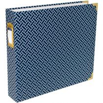 "PROJECT LIFE D-RING ALBUM 12X12"" NAVY WEAVE"
