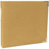 "Project Life Ring Album 8""X8\""  Heidi Swapp -Gold Glitter"