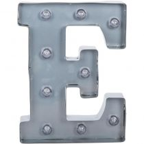 "Silver Metal Marquee Letter 9.875"" E"