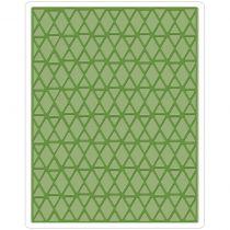 Sizzix Texture Fades A2 Embossing Folder Lattice By Tim Holtz