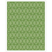 Sizzix Texture Fades A2 Embossing Folder Lattice By Tim Holtz