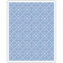 Sizzix Texture Fades A2 Embossing Folder Latticework