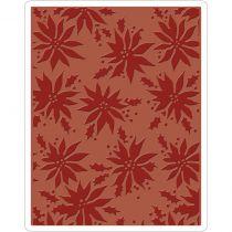Sizzix Texture Fades A2 Embossing Folder Poinsettias