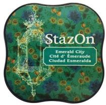 STAZON MIDI INK PAD EMERALD CITY