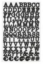 Sticker ABC - Noir