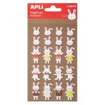 Stickers feutrine - Lapins