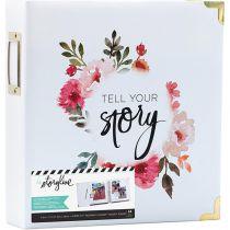 "Storyline2 D-Ring Album 8.5\""X11\"" White Floral"