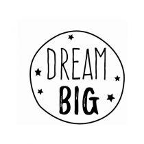 Tampon rond Dream Big