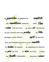 TAMPONS TRANSPARENTS PHRASES FAMILLE