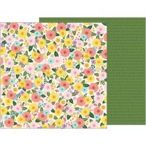 "Tealightful Double-Sided Cardstock 12""X12\"" Bouquet"