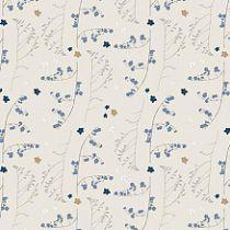 TISSU FLEURS SAUVAGES - GRIS/OR 50 X 140 CM