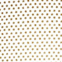 TISSU GRANDES ETOILES - OR 50 X 55 CM